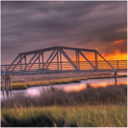 The Old Swing Bridge in Surf City NC